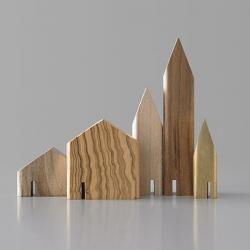 オブジェ Mini Houses 03 / 5個セット (mad lob)
