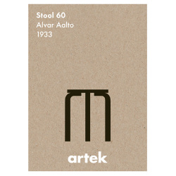 アイコンポスター Stool60 (Artek / アルテック)
