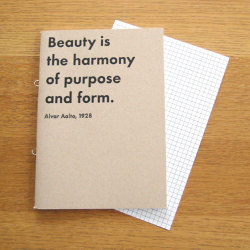 引用文付きノート Beauty is‥ (Artek / アルテック)