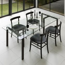 <センプレ> テーブル (クリアガラス180cm+TL02×2)画像