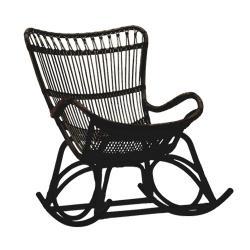 ラタン ロッキングチェア Monet / ブラック  (Sika Design)