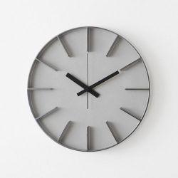 シルバー AZUMI edge clock L