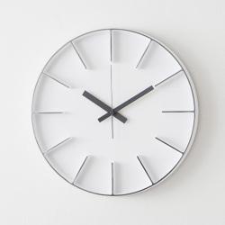 ホワイト AZUMI edge clock L