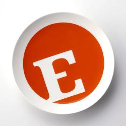 【アウトレット】 TYPO アルファベットプレート E (TYPO COLLECTION)