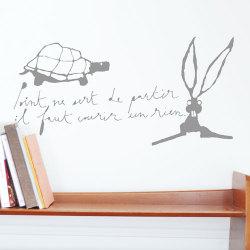 ウォールシール ・ うさぎとかめ (Poetic wall)