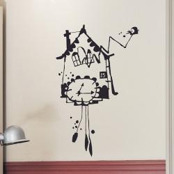 ウォールシール・鳩時計 (Poetic wall)