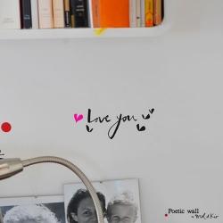 ウォールシール ・ Love you (Poetic wall)